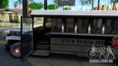 Prison Bus Driver Parallel Lines para GTA San Andreas vista interior