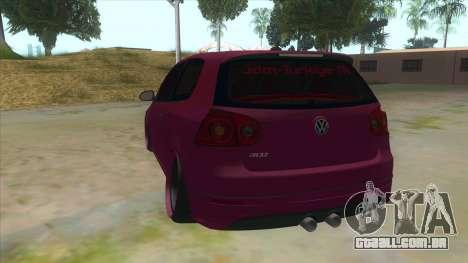 Volkswagen Golf MK para GTA San Andreas traseira esquerda vista