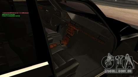 Mercedes-Benz W124 E500 Armenian para GTA San Andreas vista superior