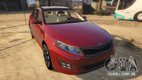 GTA 5 KIA Optima 2014 voltar vista