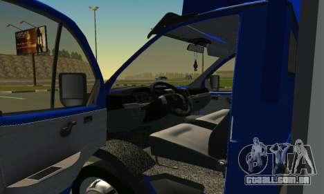 Gazel 3302 Negócios para GTA San Andreas vista direita