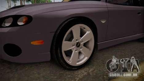 Pontiac GTO Hot Wheels NASCAR PJ para GTA San Andreas vista traseira