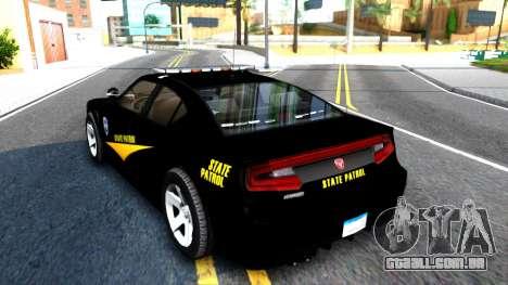 Bravado Buffalo State Patrol 2013 para GTA San Andreas traseira esquerda vista