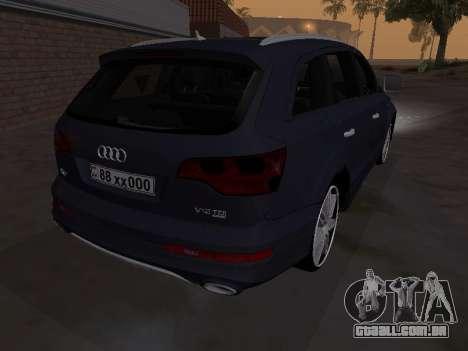 Audi Q7 Armenian para GTA San Andreas vista traseira