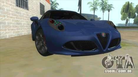 Alfa Romeo 4C para GTA San Andreas vista traseira