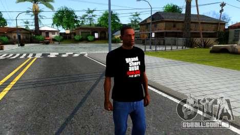 GTA Online T-Shirt para GTA San Andreas segunda tela