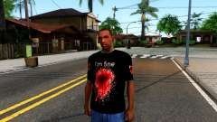 Black I am Fine T-Shirt para GTA San Andreas