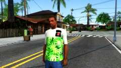 Design Weedleaves T-Shirt para GTA San Andreas