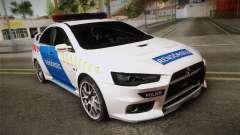 Mitsubishi Lancer Evo X Da Polícia para GTA San Andreas