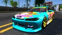 Taneshima Popura NISSAN Silvia S15 Itasha para GTA San Andreas