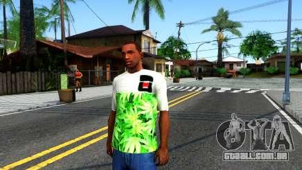 Design Weedleaves T-Shirt para GTA San Andreas