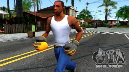 Black With Flames Boxing Gloves Team Fortress 2 para GTA San Andreas