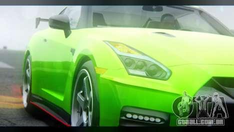 Nissan GT-R Nismo 2017 para GTA San Andreas