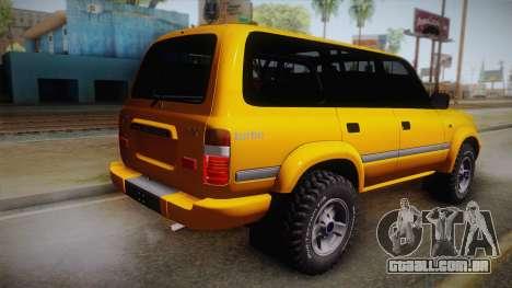 Toyota Land Cruiser 80 Series para GTA San Andreas