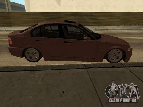 BMW 320i Armenian para GTA San Andreas esquerda vista