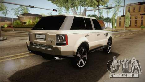 Land Rover Range Rover 2015 Sport para GTA San Andreas