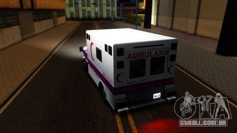 Ambulance Malaysia para GTA San Andreas traseira esquerda vista