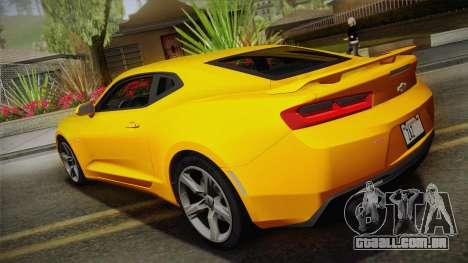 Chevrolet Camaro SS 2017 para GTA San Andreas esquerda vista