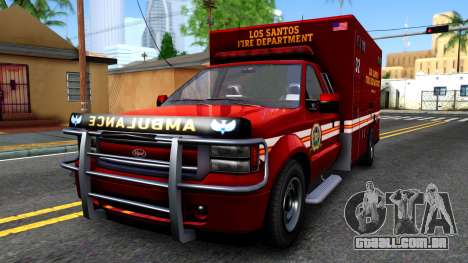 GTA V Vapid Sadler Ambulance para GTA San Andreas