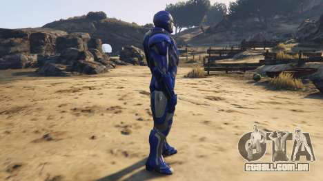 Iron Man Blue Steel para GTA 5