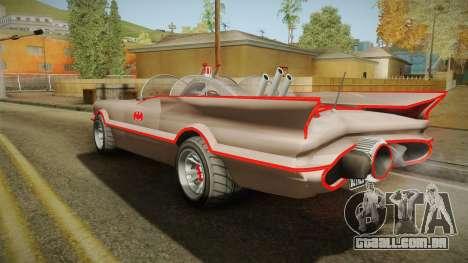 GTA 5 Vapid Peyote Batmobile 66 IVF para GTA San Andreas