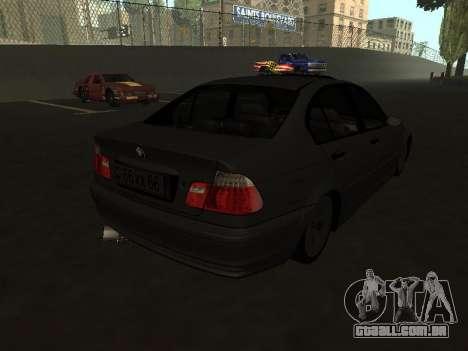BMW 320i Armenian para GTA San Andreas traseira esquerda vista