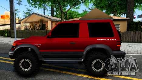 Mitsubishi Pajero Off-Road 3 Door para GTA San Andreas