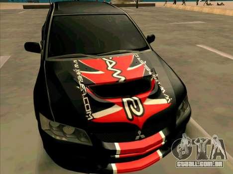 Mitsubishi Lancer Evolution VIII para GTA San Andreas