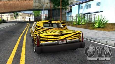 STReTTTcH LoWriDEr para GTA San Andreas traseira esquerda vista