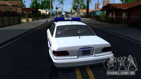 Vapid Stanier Hometown Police Department 2004 para GTA San Andreas