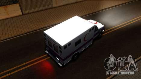 Ambulance Malaysia para GTA San Andreas vista traseira