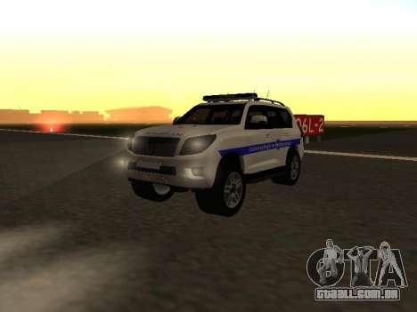 Toyota Land Cruiser Polise Armenian para GTA San Andreas