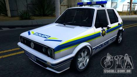 Volkswagen Golf White South African Police para GTA San Andreas