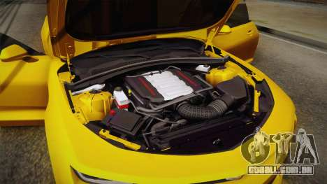 Chevrolet Camaro SS 2017 para GTA San Andreas interior