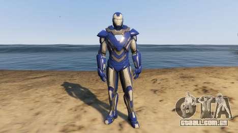 Iron Man Blue Steel para GTA 5