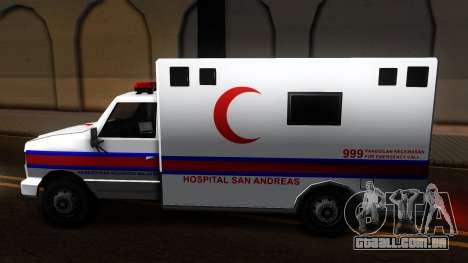 Ambulance Malaysia para GTA San Andreas esquerda vista