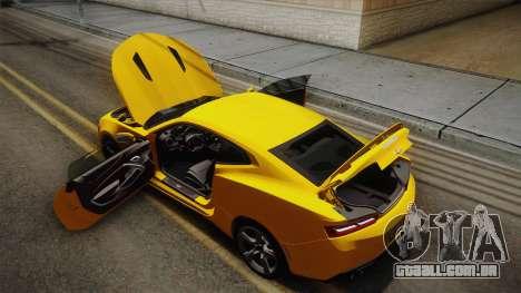 Chevrolet Camaro SS 2017 para o motor de GTA San Andreas