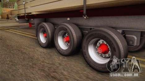 Flatbed Trailer Red para GTA San Andreas