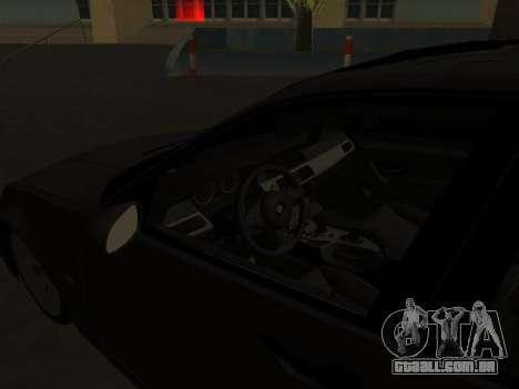 BMW 320i Armenian para GTA San Andreas vista interior