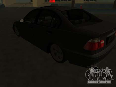 BMW 320i Armenian para GTA San Andreas vista traseira