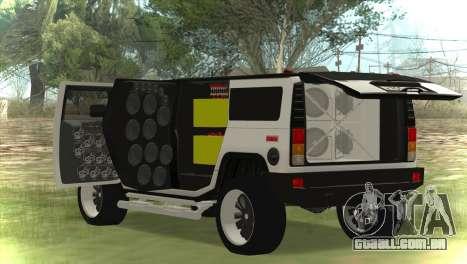 Hummer H2 Loud Sound para GTA San Andreas
