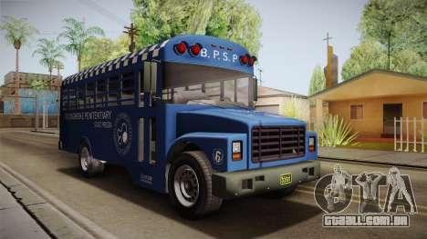 GTA 5 Vapid Police Prison Bus IVF para GTA San Andreas