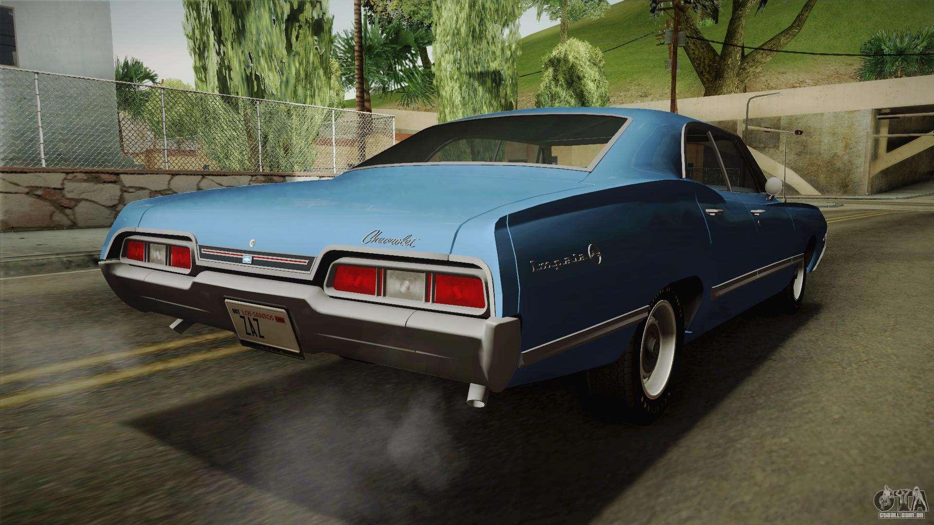 chevrolet impala sport sedan 396 turbo jet 1967 para gta. Black Bedroom Furniture Sets. Home Design Ideas