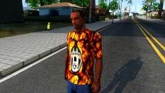 Juventus Flame T-Shirt para GTA San Andreas