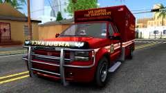 GTA V Vapid Sadler Ambulance para GTA San Andreas