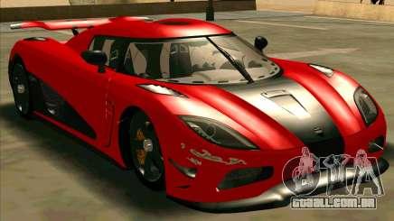 Koenigsegg Agera R NFS para GTA San Andreas