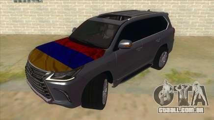 Lexus LX570 2016 Armenian para GTA San Andreas