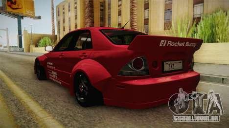 Lexus IS300 Rocket Bunny para GTA San Andreas