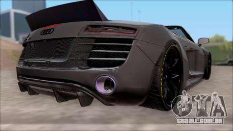 Audi R8 Spyder 5.2 V10 Plus LB Walk para GTA San Andreas