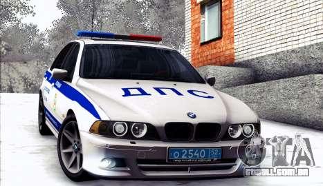 BMW E39 540i Russian Police para GTA San Andreas